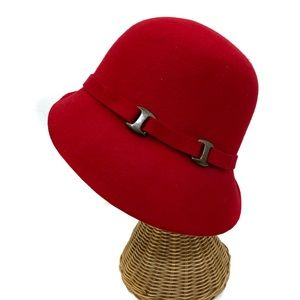 Vintage Accessories - Red Wool Womens Hat